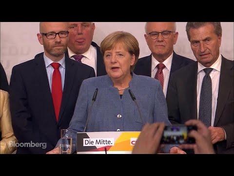 German Chancellor Merkel on Winning the Election