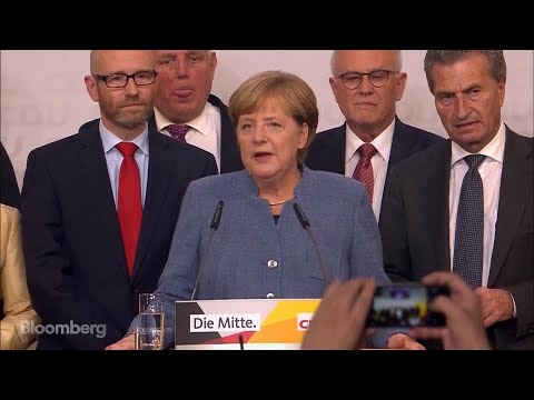 German Chancellor Merkel on Winning the Election