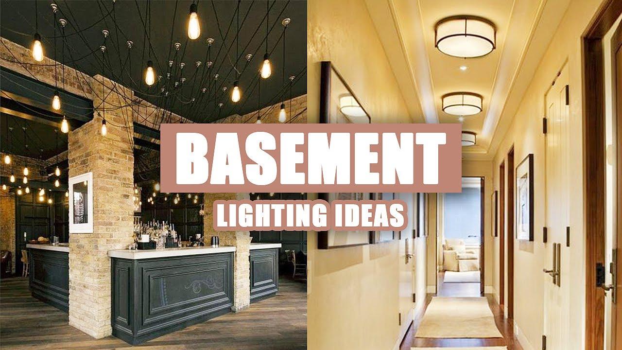 14 Basement Lighting Ideas For Low Ceilings Youtube