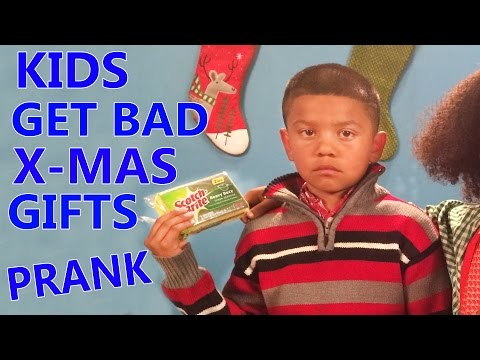 Kids open Bad Christmas Gifts Prank 2014!