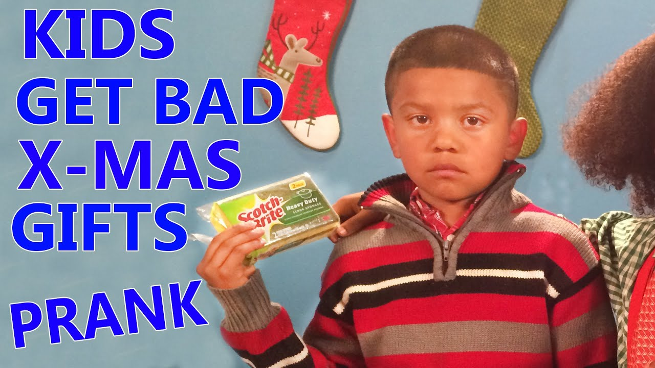 Kids open Bad Christmas Gifts Prank 2014! - YouTube