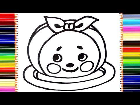 Как нарисовать колобка /  мультик раскраска колобок для детей / учим цвета