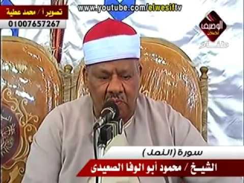 الشيخ محمود ابوالوفا الصعيدى سورة النمل ربع العشاء سندوب 1 8 2014 thumbnail