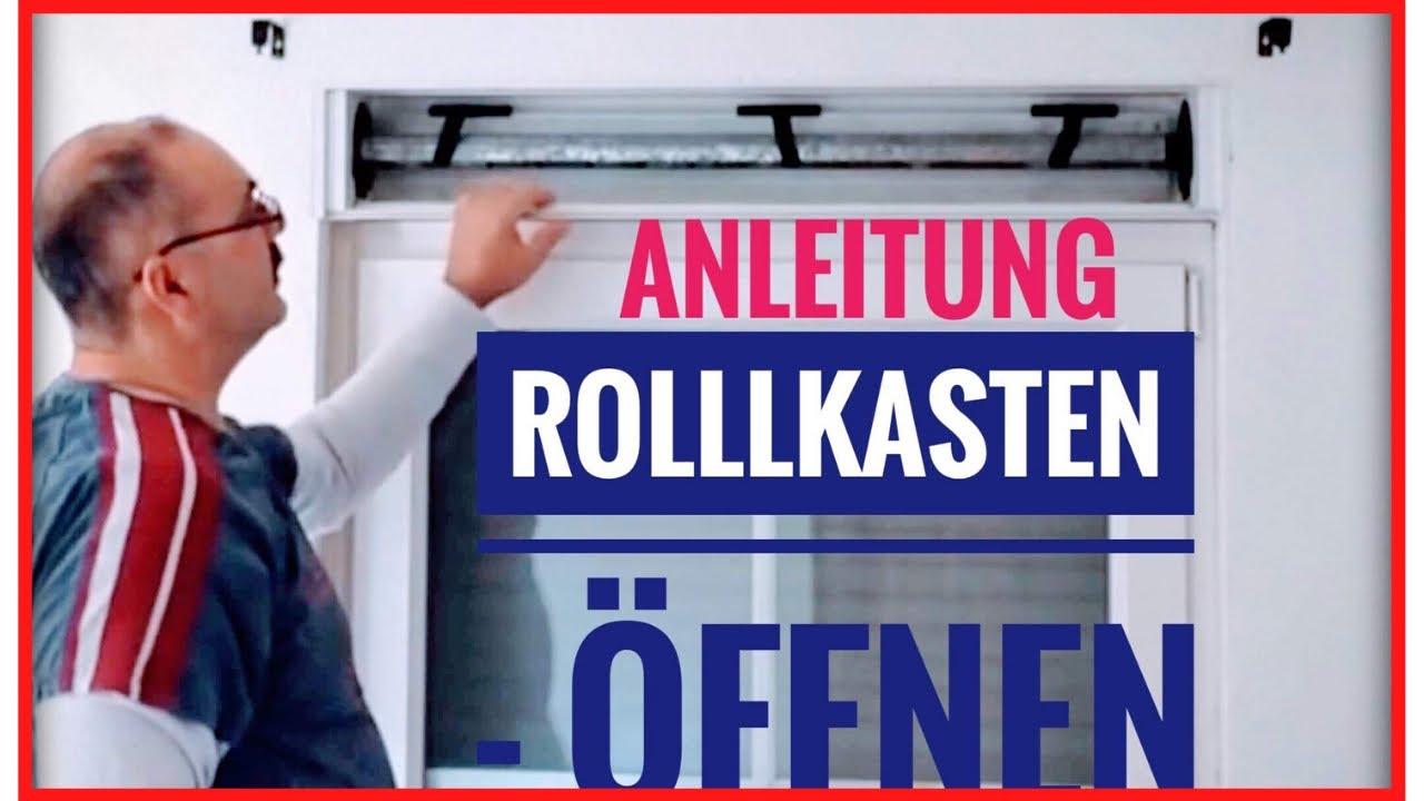 Rolladenkasten öffnen um Rolladengurt zu wechseln !!! - YouTube