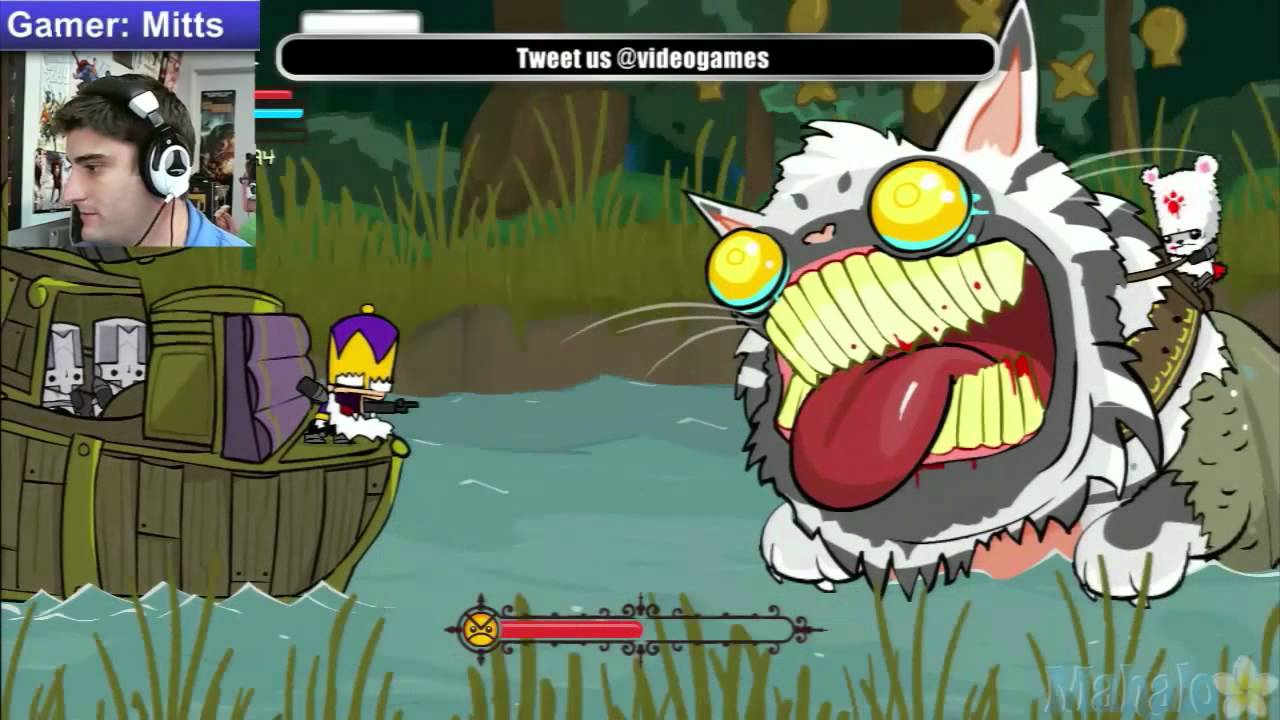 Castle Crashers Live Walkthrough River Mitts Takes Forever To Kill The Cat Youtube