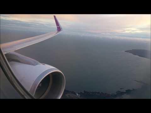 WOW Air Landing At Keflavik International Airport