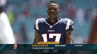 ESPN's Adam Schefter on Chances Antonio Brown Plays This Season | The Dan Patrick Show | 11/14/19