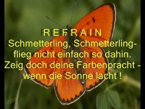SCHMETTERLING, Schmetterling - SONG mit Gedicht