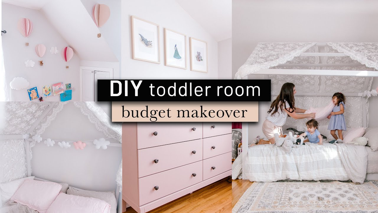 Toddler Bedroom Makeover On The Budget Diy Home Decor Diys Montessori Girl S Tour Youtube
