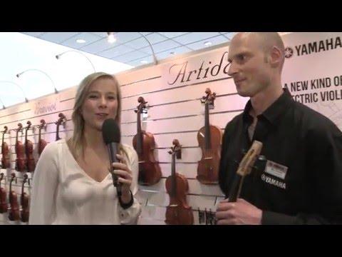 Yamaha Electric Violins Yev 104 Yev 105 Musikmesse 2016 Youtube
