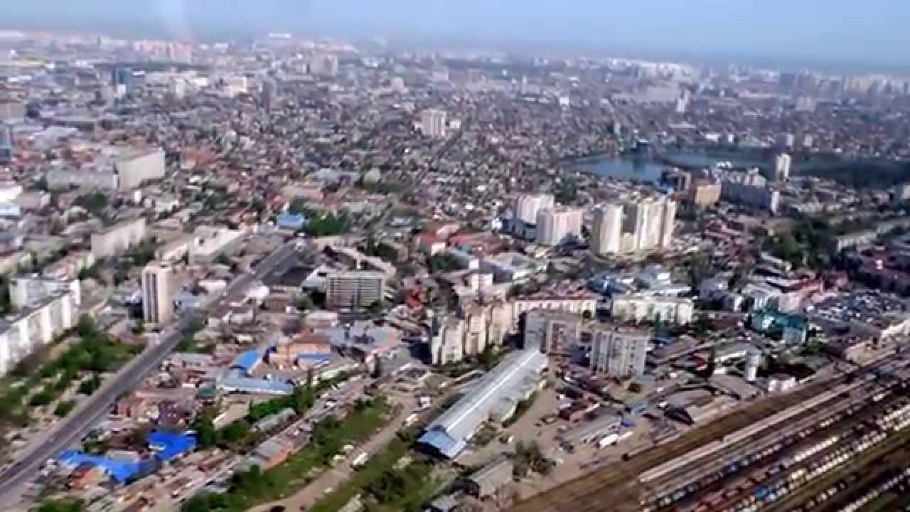 Город Краснодар с высоты птичьего полета (19.04.2014 ...