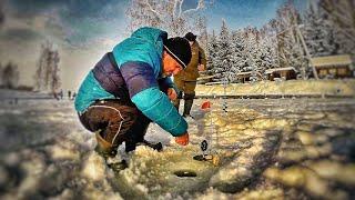 Первый раз на Зимней рыбалке ШОК это по нашему !!!