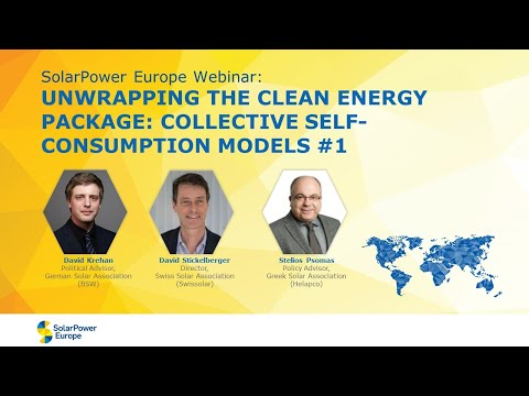 Webinar: ''Unwrapping the Clean Energy Package: Collective self-consumption models #1''