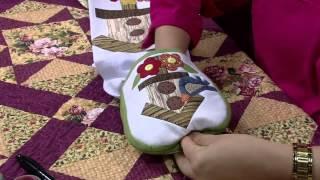 Porta pano de copa em patchwork com retalhos de tecidos – Parte 2