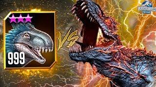WORLD BOSS ALPHA 06 VS LVL 999 YUDON! - Jurassic World The Game - * HALLOWEEN WORLD T.REX BOSS* HD