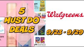 5 MUST DO WALGREENS DEALS 9/23 - 9/29 | CHEAP HAIR CARE, CANDY & MORE!