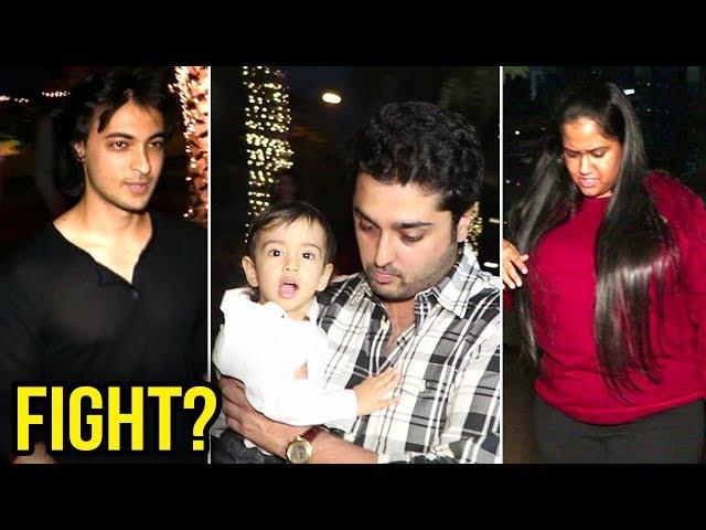 Arpita Khan LEAVES With Mystery Man, Ayush Sharma WALKS Off Separately