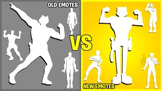 Fortnite OLD vs NEW Dances & Emotes! (Squash & Stretch & Toon Meowscles, Onda Onda, Get Griddy)