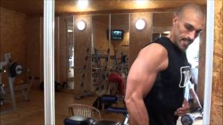 muscle building teen fitness model flexing pecs 6 pack abs biceps