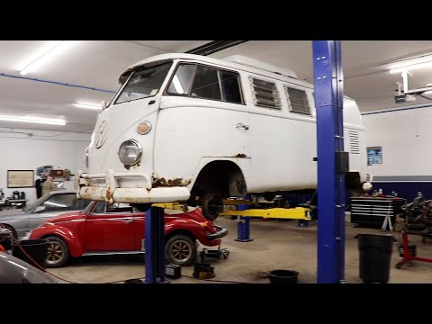 1966 Vw Bus Road Trip to Preservation Auto Werks in NH for a brake overhaul .
