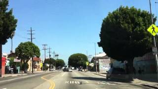 South Central Los Angeles - Driving north on Broadway (1 of 3)