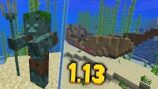 НОВЫЙ МОБ И ЗАТОНУВШИЕ КОРАБЛИ - Minecraft 1.13 18w11a Snapshot  ОБЗОР