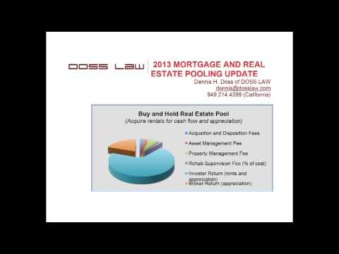 Mortgage Pool and Real Estate Pool Update