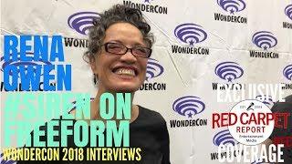 Rena Owen - Helen, talks about Freeform's new series about mermaids #Siren at #WonderCon