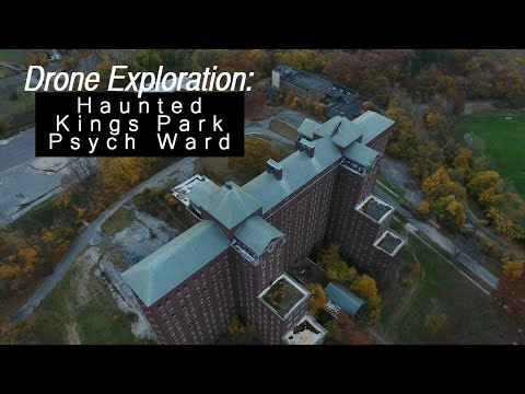 Over Haunted Kings Park Psychiatric Center - Drone Exploration