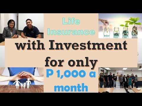 Life Insurance With Investment For Only P 1,000 A Month