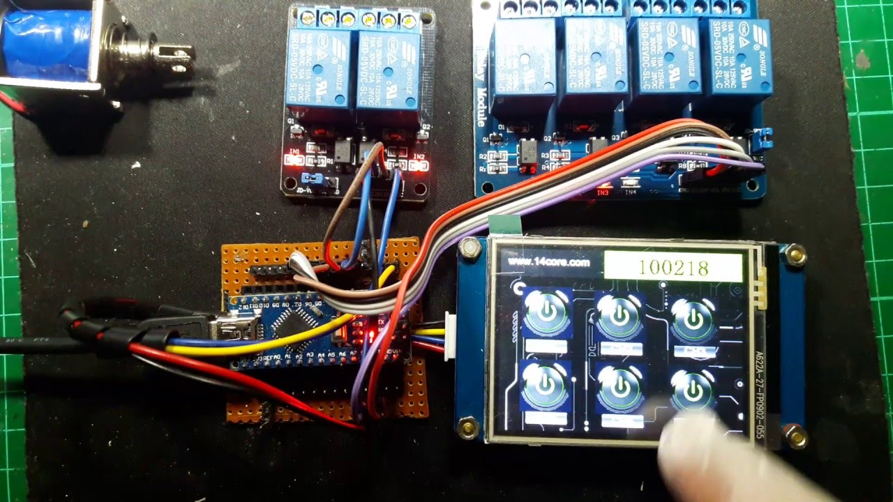 Working With Hmi Tft Touch Display With Toggle Switch