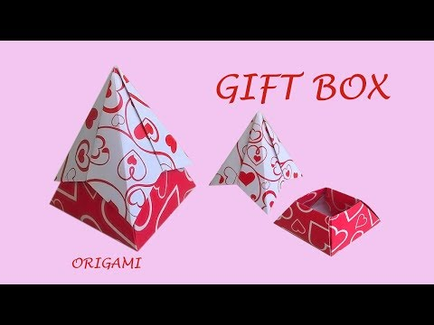 Easy origami  gift box - pyramid shape | Cool DIY