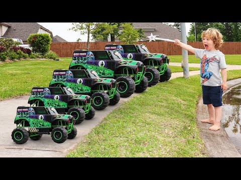 Monster Truck Power Wheels Crash Videos For Kids Youtube