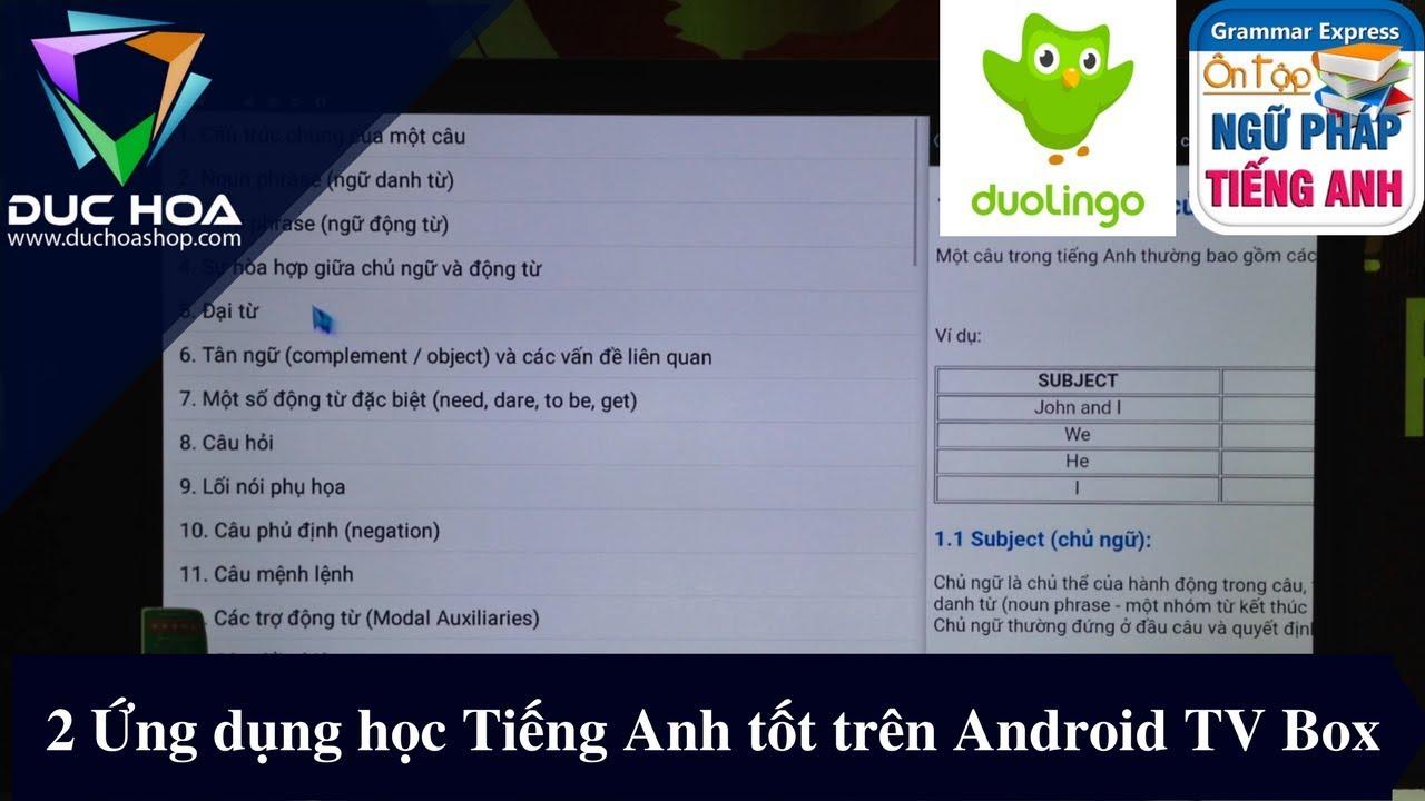 2 Ứng dụng học Tiếng Anh tốt trên Android TV Box – duchoashop.com