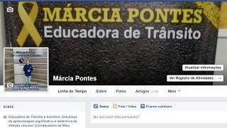 Conheça o trabalho da educadora de trânsito Márcia Pontes - medo de dirigir nas redes sociais
