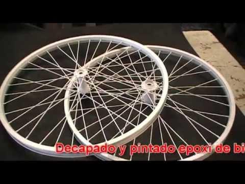 Como pintar una bicicleta con epoxi llantas blanca https - Pintar llantas bici ...