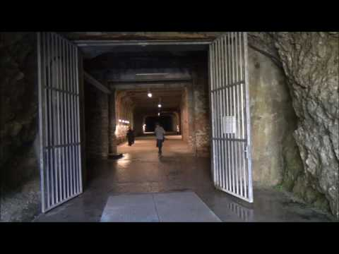 Tunnels at Ebensee concentration camp, Austria