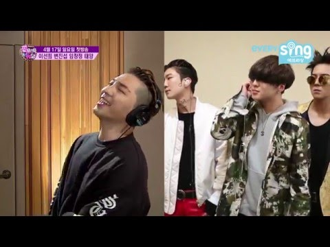 "160328 EverySing - BIGBANG&39;s Taeyang sings ""LOSER"" with WINNER&39;s Seungyoon Seunghoon and Mino"