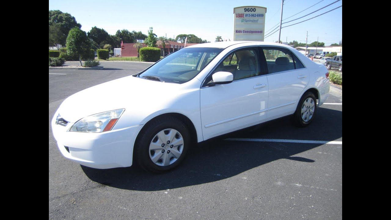 2003 White Honda Accord >> SOLD 2003 Honda Accord LX Sedan 86K Miles Meticulous Motors Inc Florida For Sale - YouTube