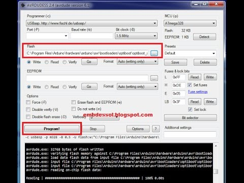 [Easiest] How to burn bootloader onto Atmega 328 or Arduino with USBasp  Tutorial