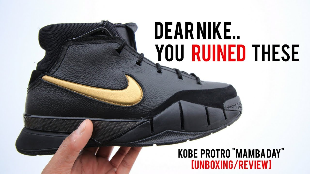 online store 043e7 33237 DEAR NIKE.. YOU RUINED THESE!!  KOBE 1 PROTRO