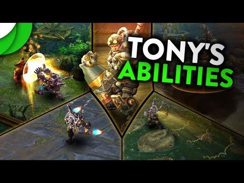 Vainglory 5v5 - Tony's Abilities Revealed (NEW HERO)