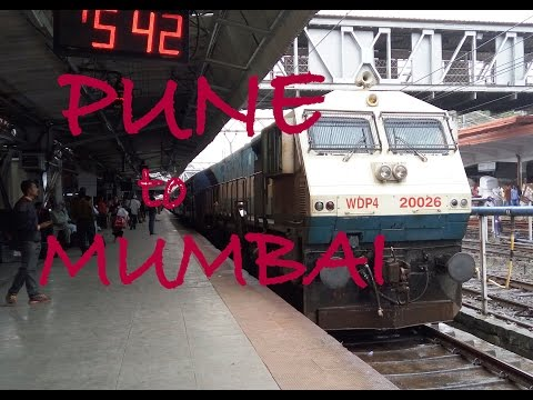 PUNE to MUMBAI in UDYAN EXPRESS via beautiful KHANDALA GHATS
