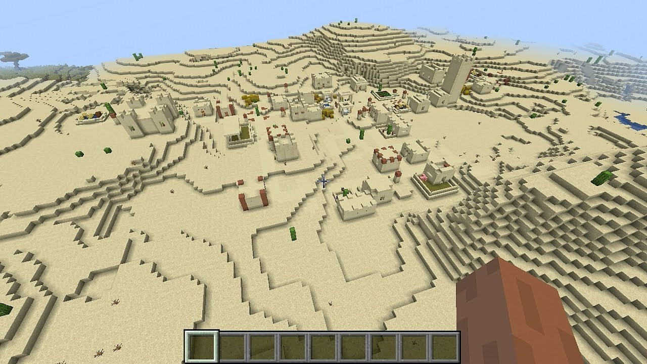 Minecraft 122.1224.122 Seed 12292: Two desert villages and temples at spawn