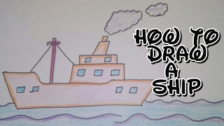 Drawing tutorial: how to draw a ship | step by step | modes of transport | easy [creative ideas]