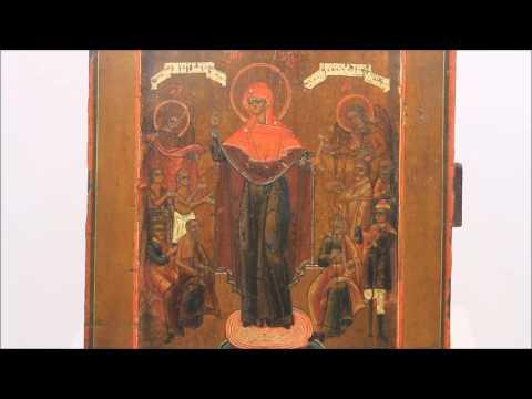 Купить икону - Старинная икона Богородицы Всех Скорбящих Радость .