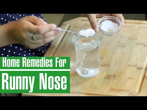 3 BEST NATURAL HOME REMEDIES TO STOP RUNNY NOSE - YouTube