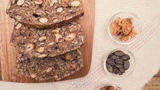 Schnelles Low-Carb Brot mit Nüssen