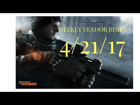 The Division -  Weekly Vendor Reset April 21st - 28th