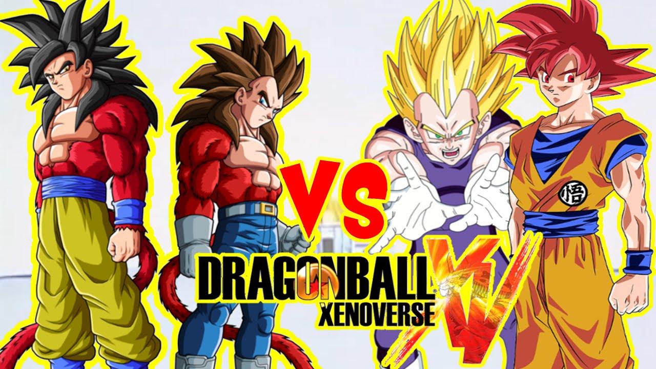 Dragon ball xenoverse goku ssj4 y vegeta ssj4 vs goku - Dragon ball xenoverse ss4 vegeta ...